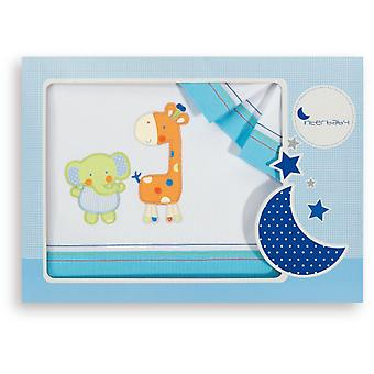 Interbaby Triptico Cuna Model Elephant and Giraffe Turquoise (Textile , Child's , Linens)