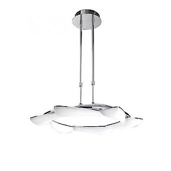 Mantra Mistral Telescopic 36W LED Round 3000K, 3240lm, Polished Chrome/Frosted Acrylic, 3yrs Warranty