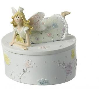 Glittered Fairy Princess Trinket Box