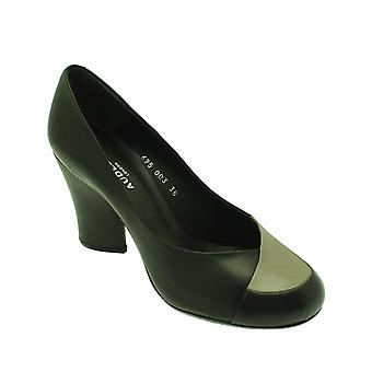 Audley Black Women's Rounded Toe High Heel Court Shoe