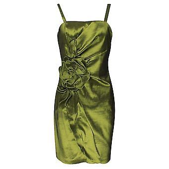 Frank Lyman Green Spaghetti Strap Satinl Dress