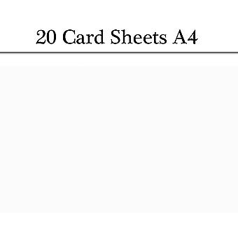 20 White A4 Card Sheets for Crafts | Coloured Card for Crafts