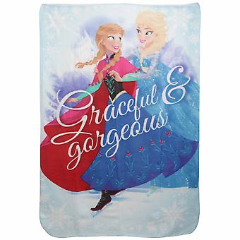 Disney Frozen Childrens Girls Graceful & Gorgeous Fleece Blanket