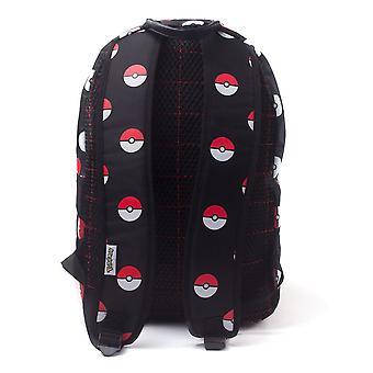 Nintendo Pokemon Pokeball All-Over Print Rucksack Casual Daypack 28cm 20L