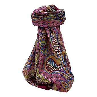 Mulberry Silk Traditional Square Scarf Osh Wine par Pashmina et Soie