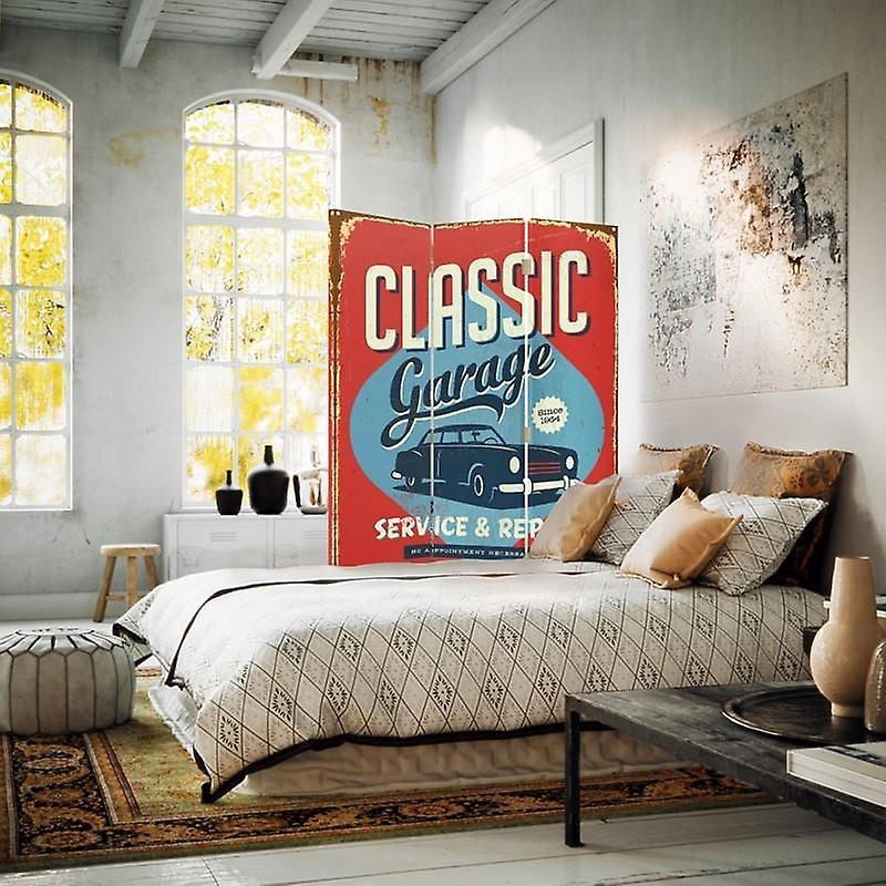 Diviseur de chambre, 3 panneaux, à un seul côté, toile, GParrotge classique
