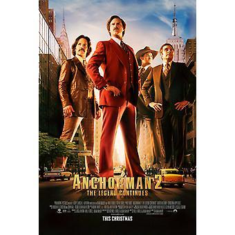 Anchorman 2 مزدوجة من جانب ملصق الفيلم الأصلي - نمط العادية