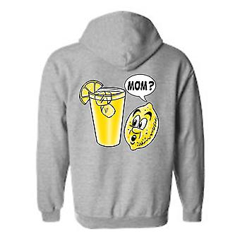 Men's Hoodie Funny Cute Lemon Child: Mom?