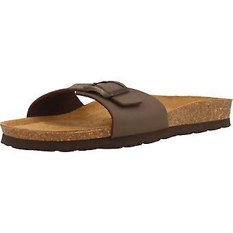 Gele winkel sandalen 78735 kleur Moka