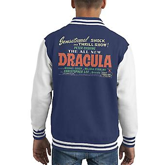 Hammer Horror Films Dracula Shock And Thrill Show Kid's Varsity Jacket