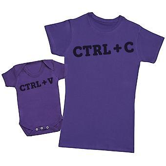 CTRL + C & CTRL + V- Mothers T-Shirt & Baby Bodysuit