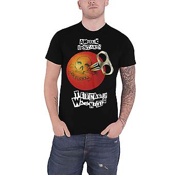 Angelic Upstarts T Shirt Teenage Warning Band Logo new Official Mens Black