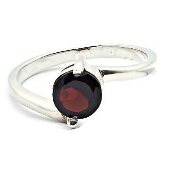 Ring 925 Silber mit Granat 55 mm / Ø 17.5 mm (KLE-RI-002-52-(55))