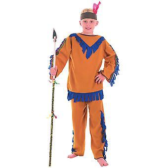 Boys Native American Indian Fancy Dress Costume