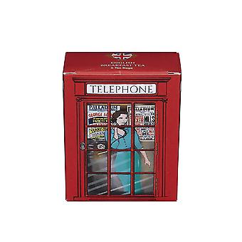 English telephone box english breakfast tea 6 teabag carton