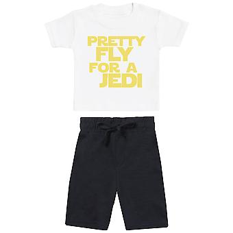 Pretty Fly For A Jedi - Baby T-Shirt with Black Baby Shorts - Baby Outfit