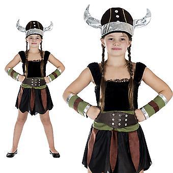Chica de Viking Viking Dragon Rider Seeräuberin niños traje chica