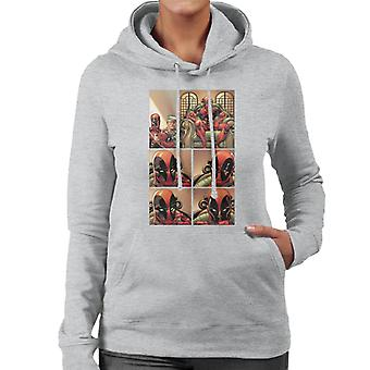 Marvel Deadpool Comic Panel Women's Hooded Sweatshirt