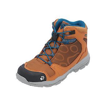 Jack Wolfskin AKKA TEXAPORE MID B Kids Sports Shoes Yellow Sneaker Turn Shoes