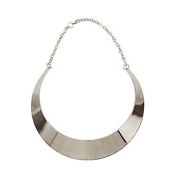Womens Rock Chic Silver Choker Collar Necklace