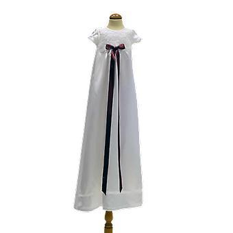 Vit Dopklänning Med Ljung-rosa Rosett Grace Of Sweden  Ma.v