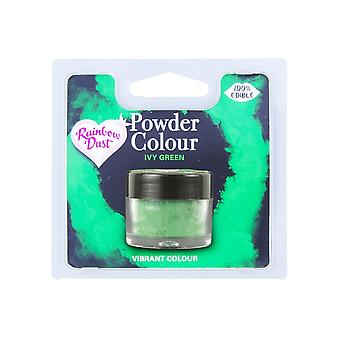 Rainbow Polvo comestible Mate Polvo Color Color 4g Ivy Green