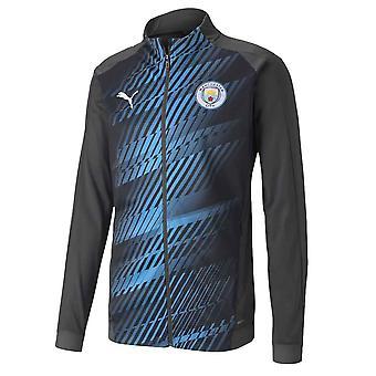 2019-2020 Manchester City Puma Stadium Jacket (Asphalt)