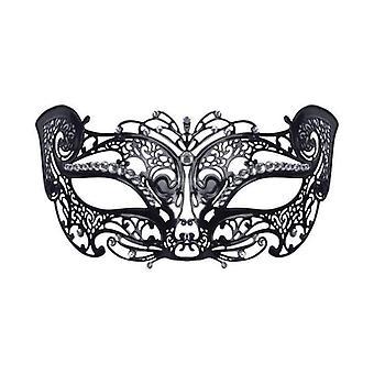 Filigree Cat Mask w/Stone (Metal)