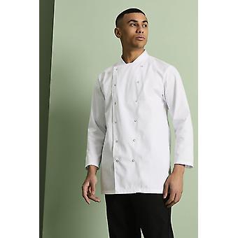 SIMON JERSEY Unissex Long Sleeve Chef's Jacket, White