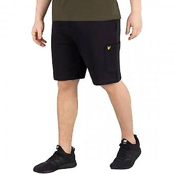 Lyle & Scott Black Sweat Jogging Shorts With Pocket ML1018V