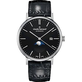 Claude Bernard Wristwatch Men's Slim Line Automatic moon phase 80501 3 NIN