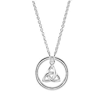 Kit Heath Heritage Sterling Silver Celtic Ringed Trinity Knot Necklace 9273HP