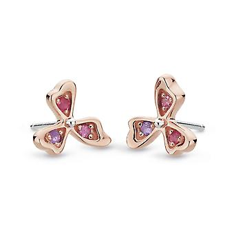 Kit Heath Blossom Petal Bloom Rose Rhodolite Ruby Stud Boucles d'oreilles 30373RAP