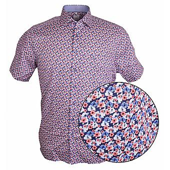 OLYMP Olymp Floral Print Korte mouw Shirt