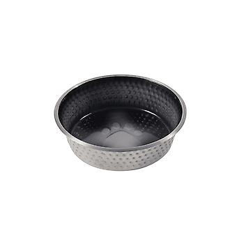 Weatherbeeta Non-slip Stainless Steel Shade Dog Bowl - Preto