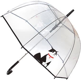 X-Brella Unisex Adults 23in Transparent Cat Stick Umbrella