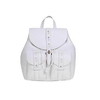 Furla 1056798 Women's White Leather Backpack