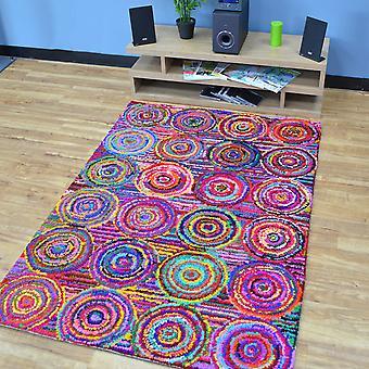 Katoen Chindi Rainbow veelkleurige tapijten 01