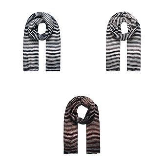 Intrigue Womens/Ladies Gradient Striped Pleated Scarf