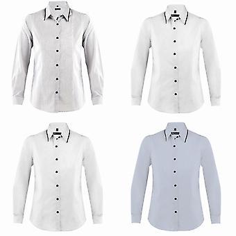 الأراضي النسائي/السيدات باكستر الأكمام الطويلة المجهزة قميص