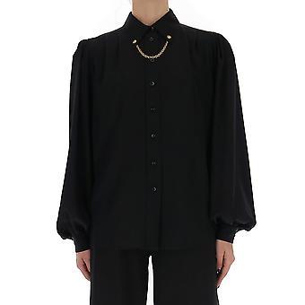 Givenchy Bw60nj12eh001 Frauen's schwarze Baumwolle Shirt