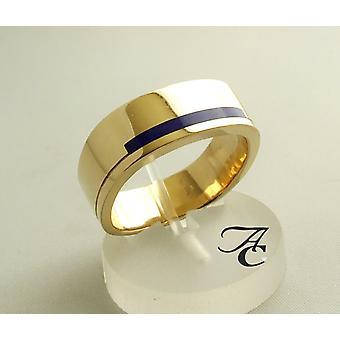 Gelbgold lapis lazuli ring