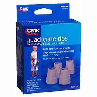 Carex quad cane tips, a705-00, 4 ea