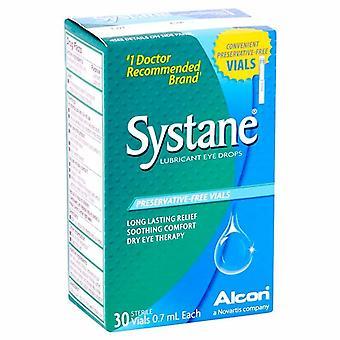 Systane smøremiddel øyedråper, konserveringsmidler-free ampuller, 30 ea