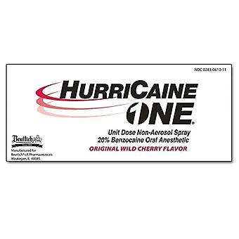 Hurricaine one 20% benzocaine oral anesthetic, wild cherry, 2 ea