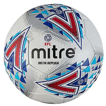 Mitre Delta EFL Replica Training Football Soccer Ball White/Blue/Red
