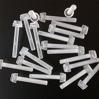 20x läpinäkyvä peukaloruuvit, ura + pyälletty M6 x 40mm