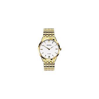 Sekonda Mens Ronde Witte Wijzerplaat Gouden Armband Horloge 1610