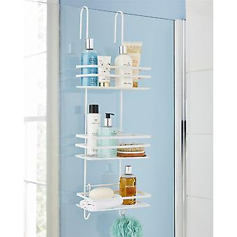 3 Tier Non Rust Hanging Shower Caddy Bathroom Organiser in White