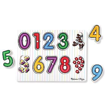 Melissa & Doug See dentro de Peg Puzzle números